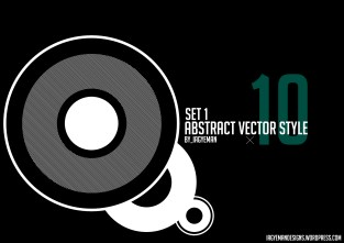 ABSTRACT VECTOR STYLE [SET 1] (Contains 10 Brushes)