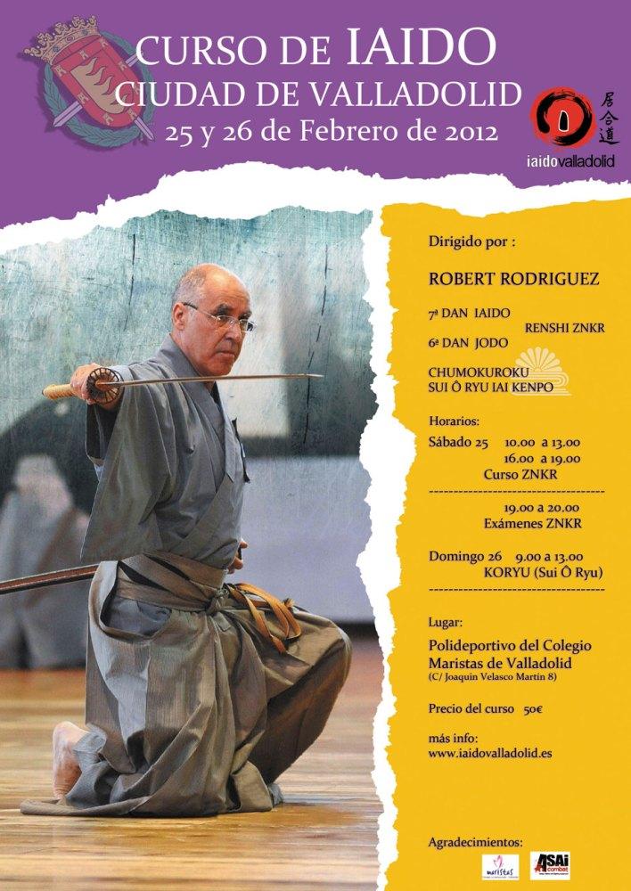 Curso de Iaido Ciudad de Valladolid. Robert Rodríguez Sensei