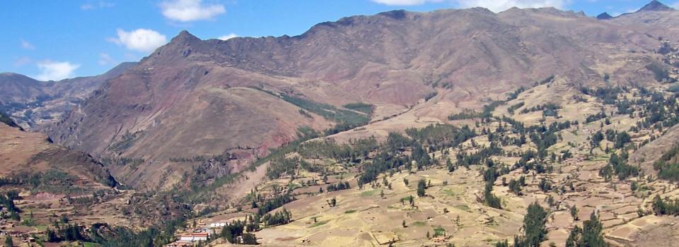 View From Pisac Ruins, Peru