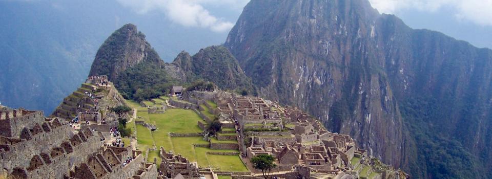 View of Macchu Picchu Toward Huayna Picchu, Peru