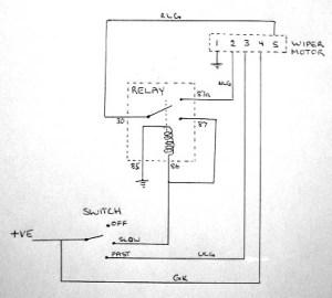 Wiper motor wiring | Iain's Seven