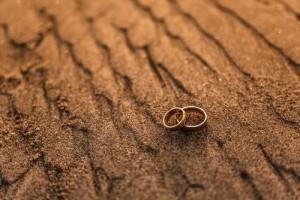 Buried wedding rings
