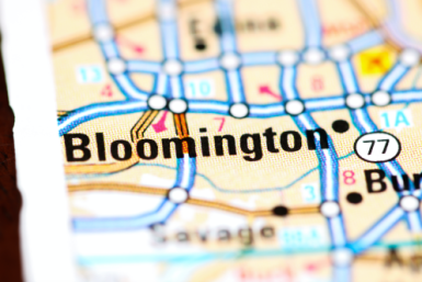 Location of Bloomington MN