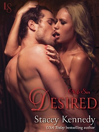 Desired: Club Sin # 3 by Stacey Kennedy with Excerpt and Giveaway