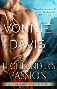 A Highlander's Passion: Highlander's Beloved #2 by Vonnie Davis with Excerpt and Giveaway