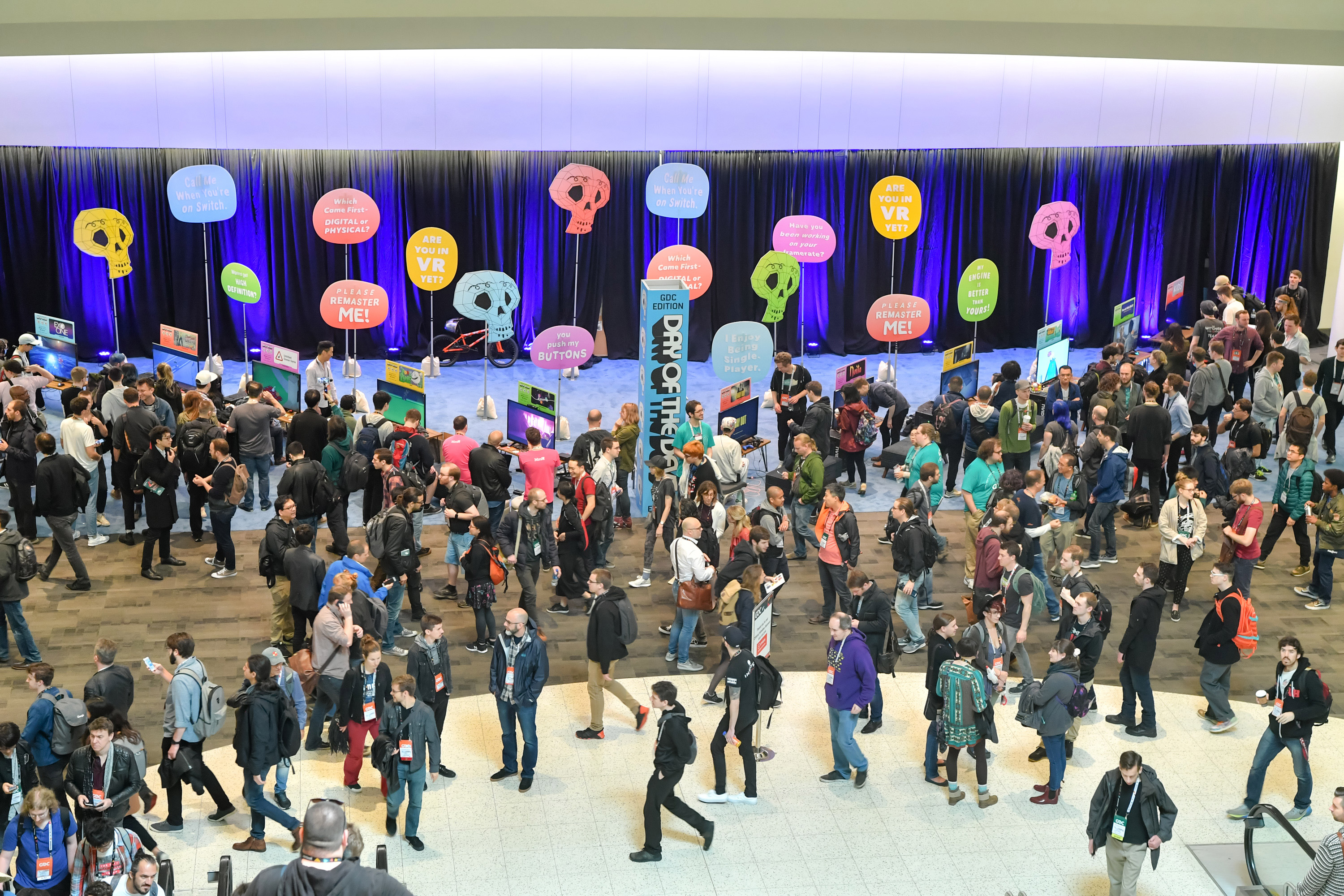 Photograph of crowd at Game Developers Conference