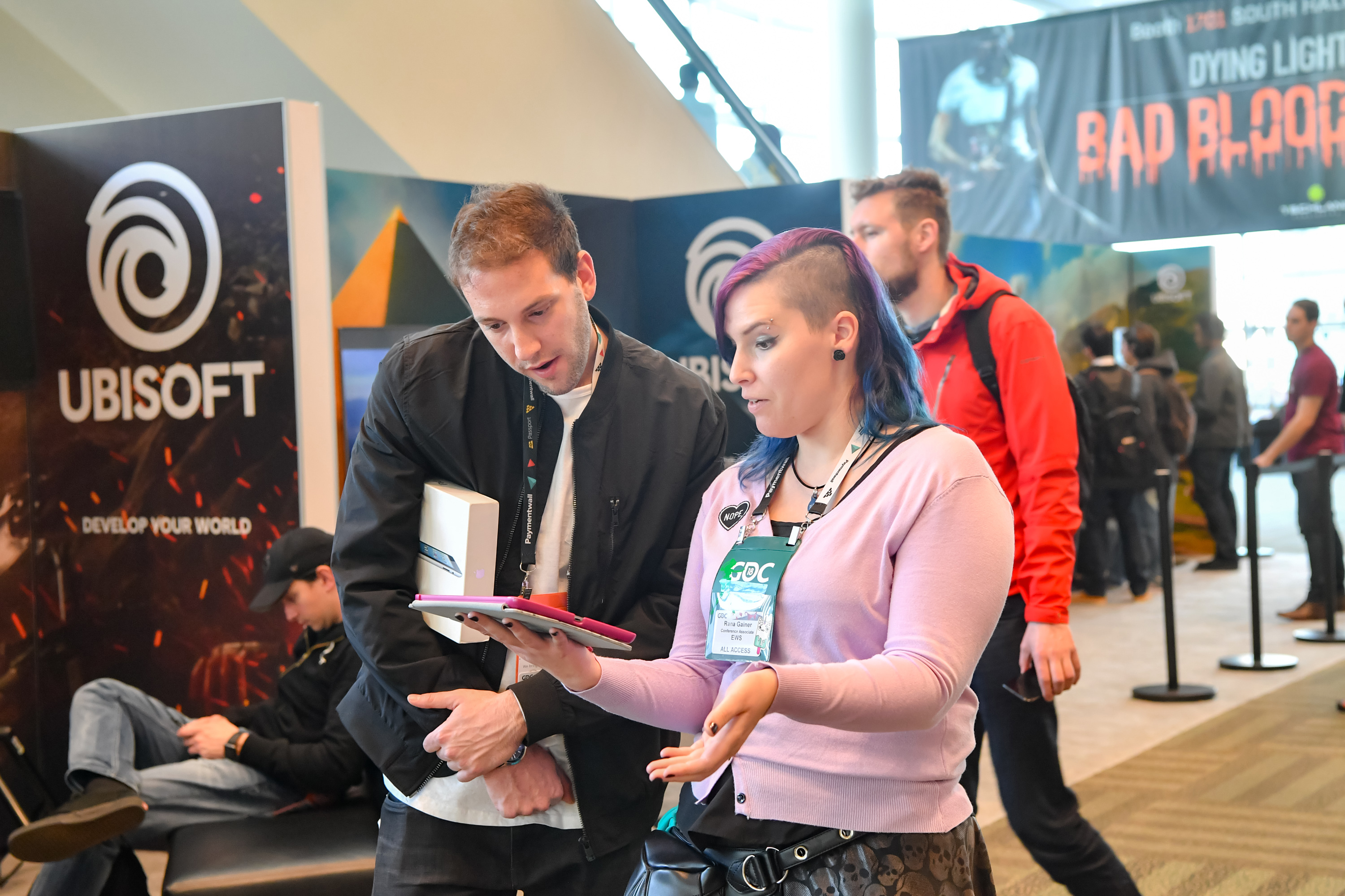 Attendees of the Game Developers Conference