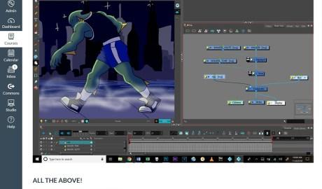 Canvas LMS screenshot for Digital Animation Techniques: Ink, Paint & Composite