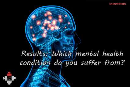 Results: Which mental health condition do you suffer from?