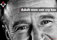 Adult men can cry too
