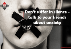 Don't suffer in silence – talk to your friends about anxiety