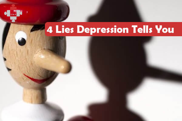 4 Lies Depression Tells You