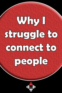 Why I struggle to connect to people. I'm not stuck up, I'm afraid. I'm not shy, I have anxiety. I'm not boring, I struggle to connect to people. I spent months alone, but I'm not so afraid now.