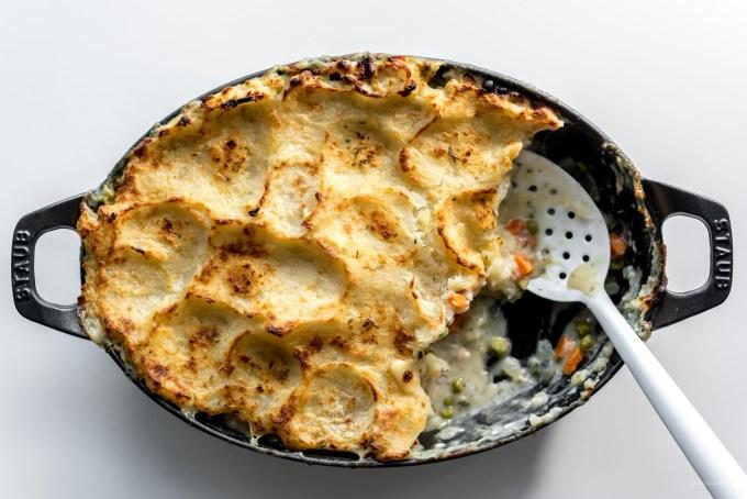 potato topped turkey pot pie   i am a food blog