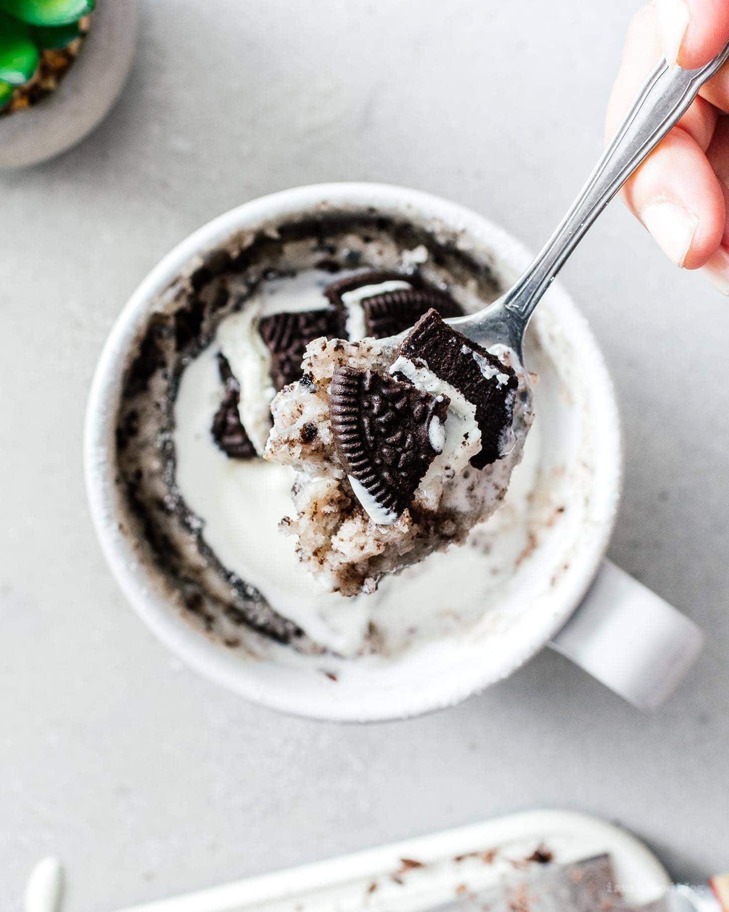 oreo mug cake general life