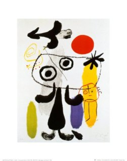 Joan-Miro-Figur-Gegen-Rote-Sonne-II-c-1950-100-high-quality-hand-painted-famous-abstract