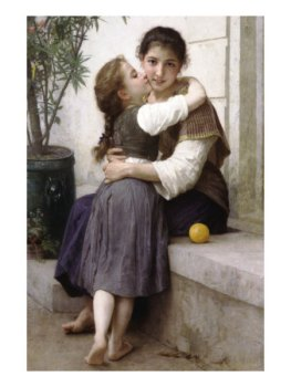 A Little Coaxing William-Adolphe Bouguereau