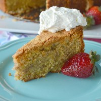 Polenta Almond Lemon Cake