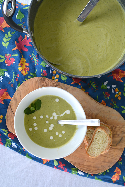 Sweet Pea and Mint Soup