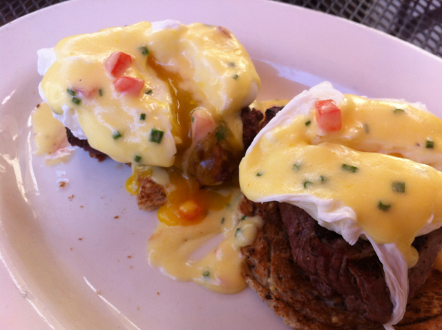 Filet Mignon Eggs Benedict @ Cafe Mirage, Port Chester NY