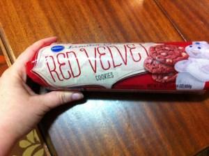 Pilsbury red velvet cookies