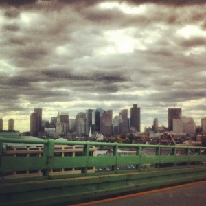 Boston from Tobin Bridge