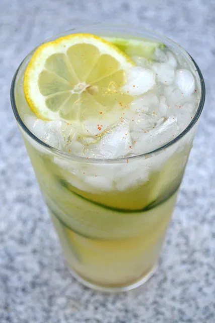 Spicy Gin Cucumber Lemonade