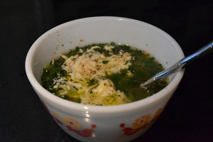 tortelini and spinach soup