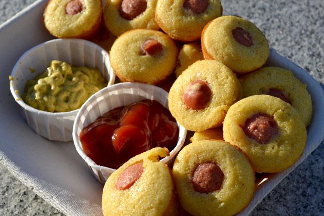 Mini Corn Dog Muffins