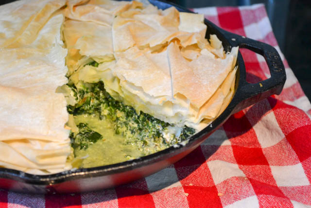 Skillet Spinach Pie-2