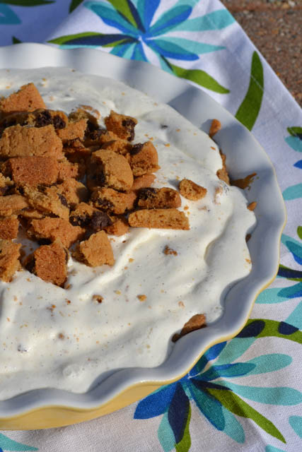 Chocolate Chip Cookie Ice Cream Pie-3