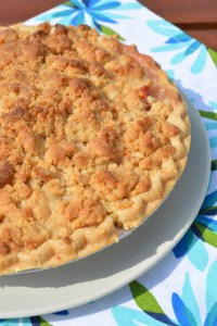 Streusel Topped Peach Pie-1