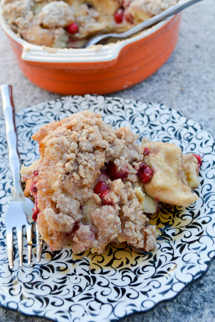 Cranberry French Toast Casserole-4