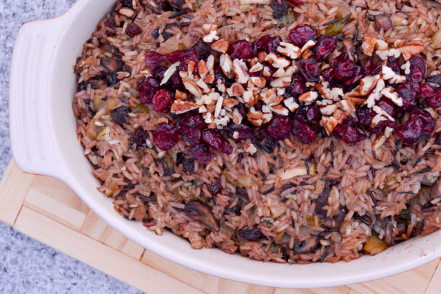 Apple and Mushroom Wild Rice Stuffing-2