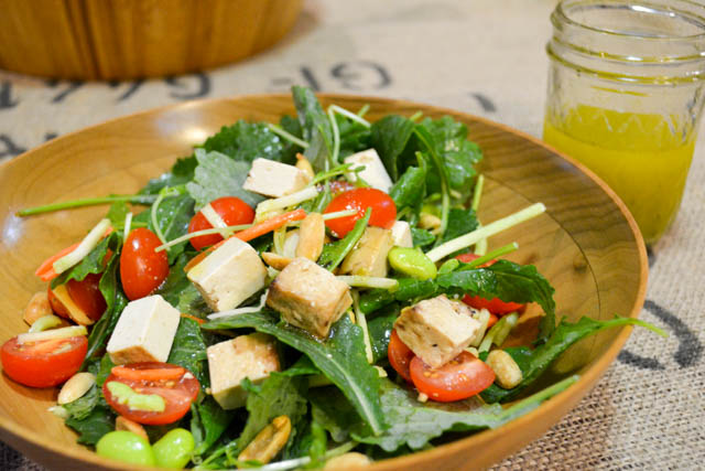Colorful Asian Salad with Baked Tofu-5