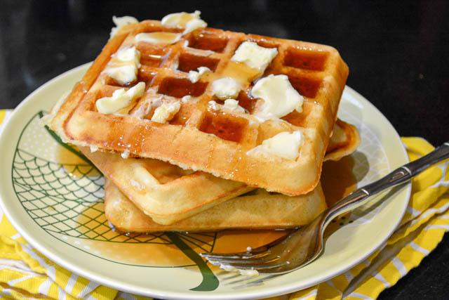 Classic Homemade Waffles-3