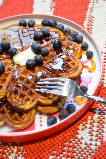 Gluten Free Banana Bread Waffles-1