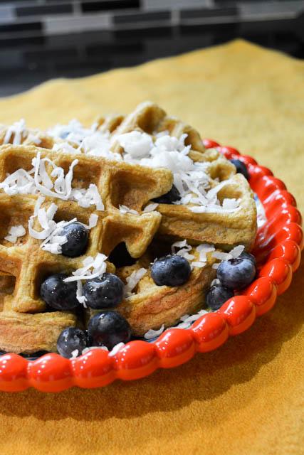 Paleo Coconut Waffles-3