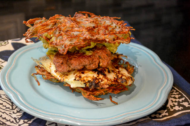 Paleo Waffled Breakfast Sandwich-3