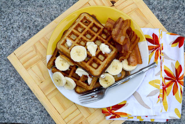 Banana Buttermilk Waffles-1