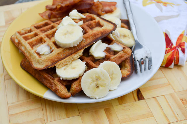 Banana Buttermilk Waffles-3