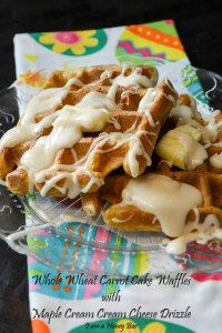 Whole Wheat Carrot Cake Waffles