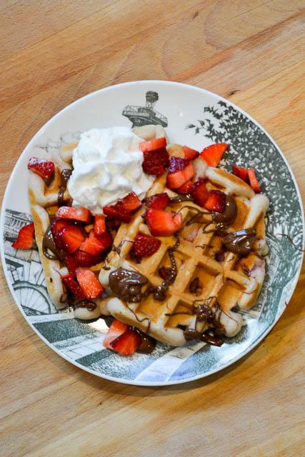 Strawberry Nutella Waffles-2