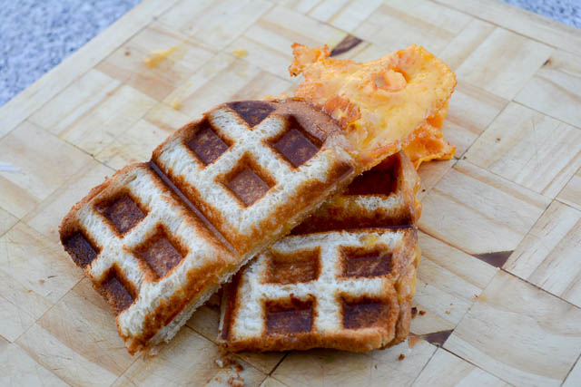 Waffle Iron Grilled Cheese-4