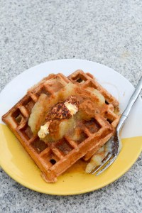 Whole Wheat Apple Sauce Waffles