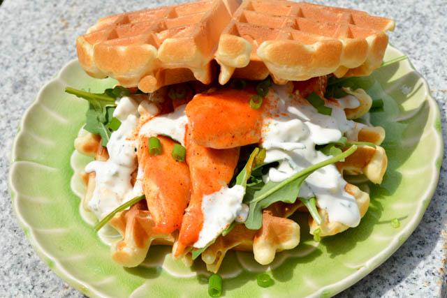 Buffalo Chicken Waffle Sandwich-1