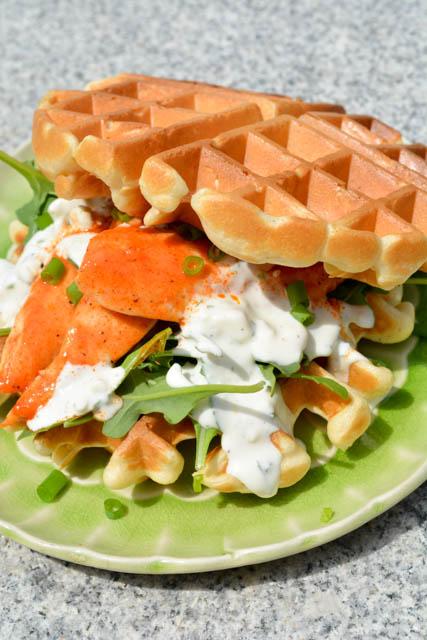 Buffalo Chicken Waffle Sandwich-4