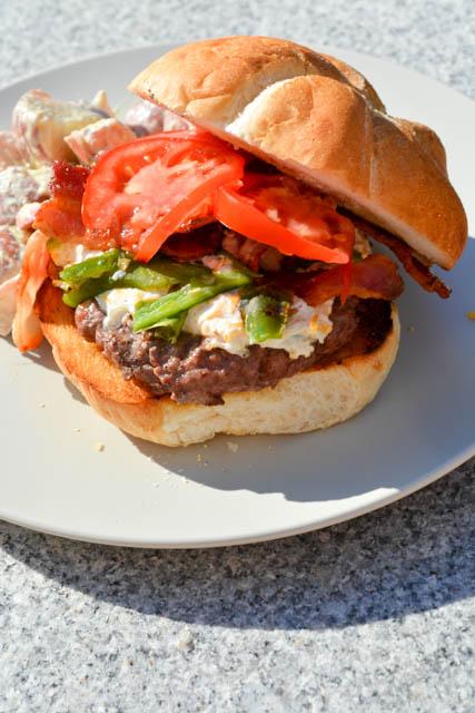Bacon Jalapeno Popper Cheeseburger