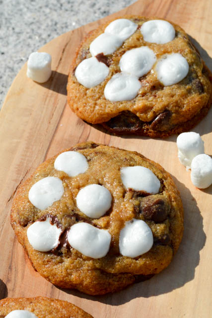 S'mores Chocolate Chip Cookies-5