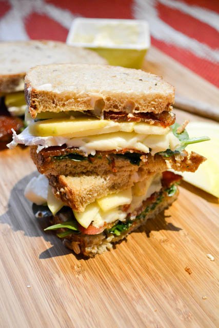 Bacon Apple Brie Spinach Sandwich-2